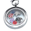 Round Floating Charm Locket