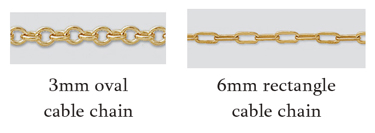 choice of gold fill chains