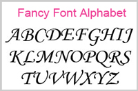 Fancy Font Upper Case