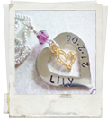 hand stamped heart of gold pendant necklace