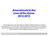 Amendments to the Laws of the Game 2012-2013