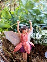 Fuchsia Flower Fairy Figurine