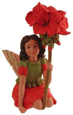 Geranium Flower Fairy Figurine