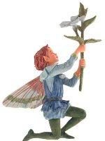 Periwinkle Flower Fairy Figurine