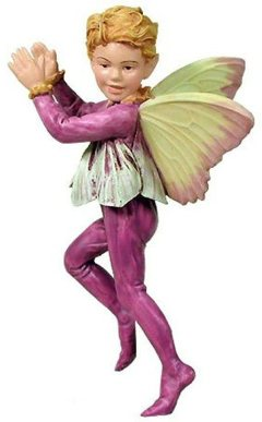 Crocus Boy Flower Fairy Figurine