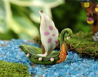 Fairytale Sailboat Miniature Fairy Garden