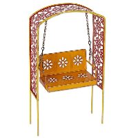 Miniature Arbour with Swing Gypsy Garden