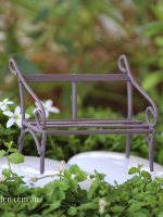 Wire Bench Micro Miniature Fairy Garden