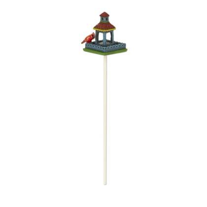 Miniature Merriment Mini Blue Birdfeeder with Cardinal