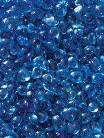 Sapphire Blue Glass Pebbles Fairy Garden