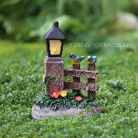 Miniature Gate Lantern LED Fairy Garden