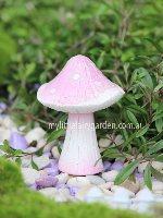 Miniature Pink Sparkle Toadstools Fairy Garden