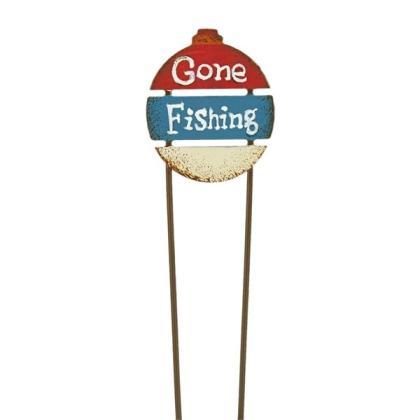 Miniature Fairy Gone Fishing Sign Gypsy Garden