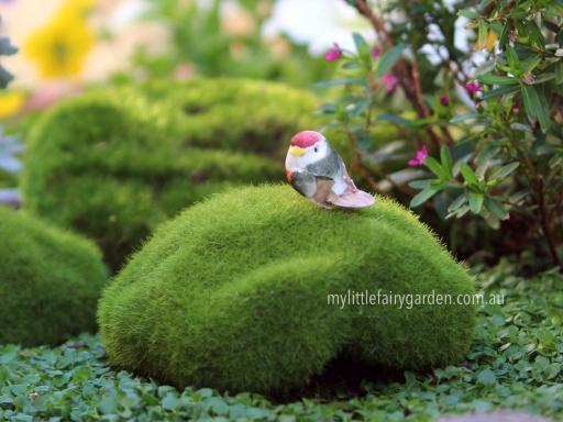 Miniature Peach Bird Fairy Garden