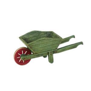 Miniature Merriment Mini Green Wheelbarrow
