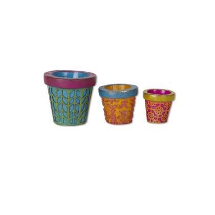 Miniature Patterned Pots Gypsy Garden
