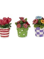 Miniature Merriment Mini Patterned Potted Flowers