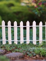 Miniature White Picket Fence Fairy Garden