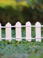 Miniature White Picket Fence Micro Fairy Garden