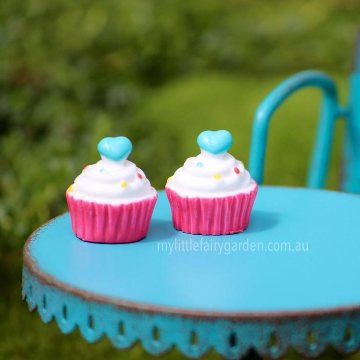 Rainbow Sprinkle Cupcake Miniature Fairy Garden