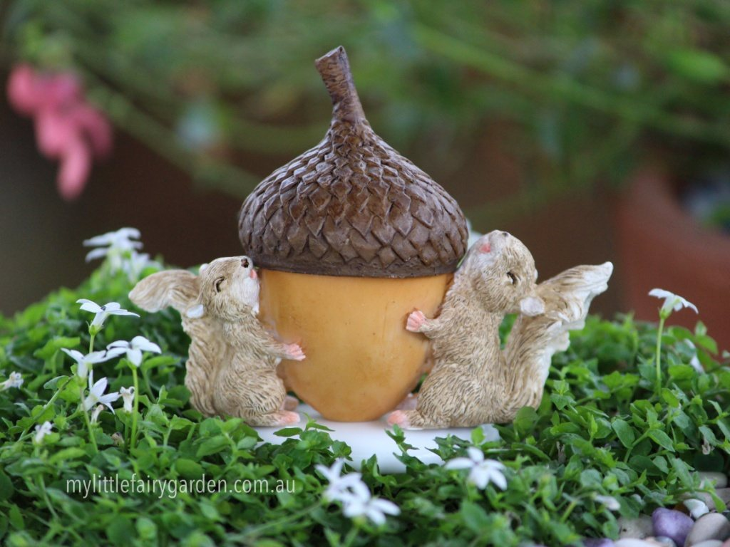 Secret Squirrel Protect Your Nuts Patch: Miniature Fairies, Furniture