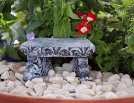 Miniature Stone Bench Fairy Garden
