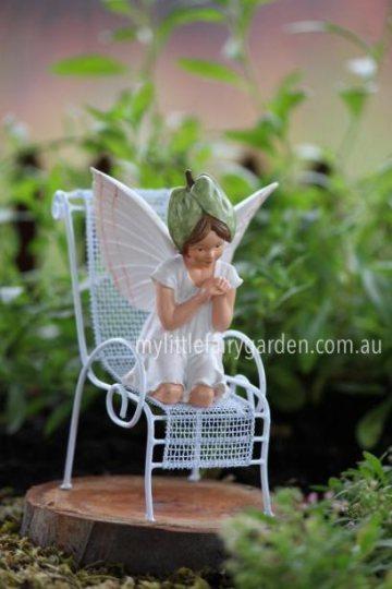 White Bindweed Flower Fairy Figurine