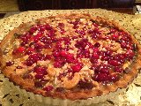 Chocolate Cranberry Brittle Tart