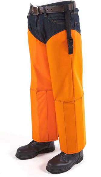 Snake Chaps - Blaze Orange Polyester