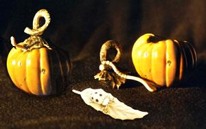 Pumpkin and Ladybug Pin