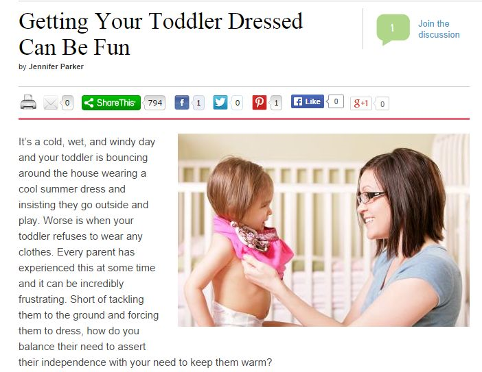 Getting Your Toddler dressed can be fun