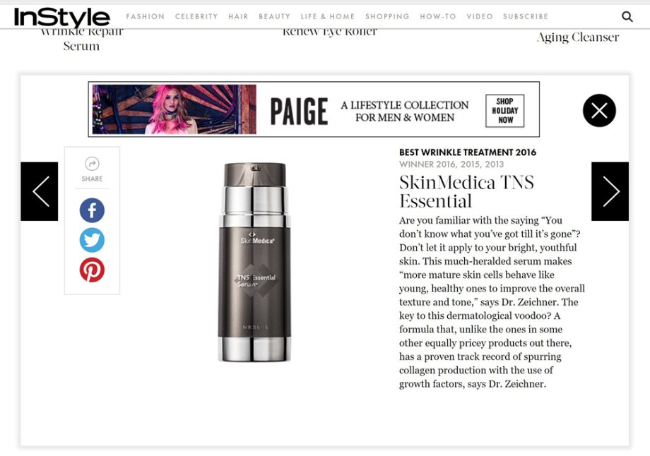 Best Wrinkle Treatment 2016 - SkinMedica TNS Essential