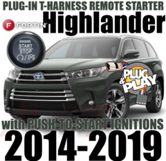 2014-2019 Toyota Highlander DIY Plug and Play Remote Starters