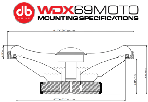 DB DRIVE wdx69moto mounting specifications