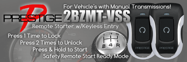 2BZMT-VSS Remote Car Starter for Vehicle's with Manual Transmissions