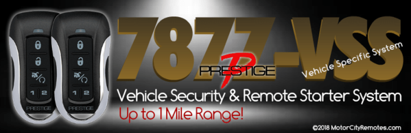 Prestige 787Z-VSS Vehicle Security and Remote Starter Kit
