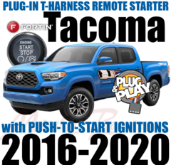 2016 2017 2018 2019 2020 Toyota Tacoma Plug and Play Remote Starter