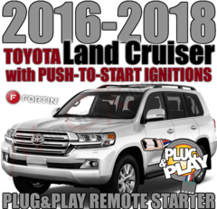 2018 TOYOTA Land Cruiser PLUG AND PLAY REMOTE STARTER KITS