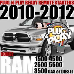 Dodge RAM Pickups Plug and Play Remote Starter Kits