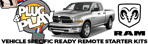 Dodge RAM Plug and Play Remote Starter Kits