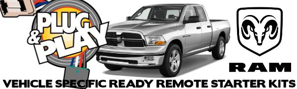 Dodge RAM Plug and Play Remote Starter Kits