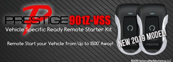 Prestige APS901E-VSS DIY Vehicle Specific Ready Remote Car Starter Kits