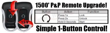 Ram Plug n Play Remote Starter Long Range Remote Upgrade