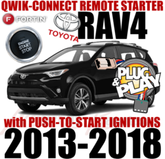 TOYOTA 2013, 2014, 2015, 2016, 2017 RAV4 PUSH-TO-START PLUG AND PLAY REMOTE STARTER