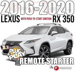 Lexus RX 350 Plug and Play Remote Starter