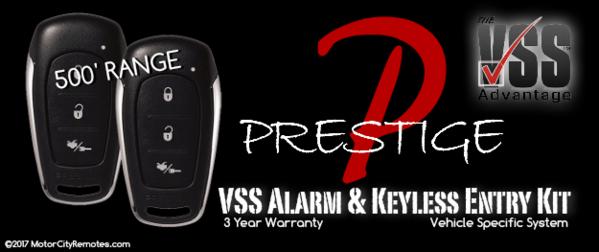 Prestige APS25E-VSS Vehicle Security Keyless Entry Kit