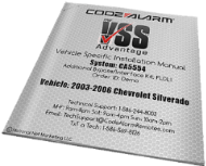 Vehicle Specific Installation Manual for Remote Car Starter
