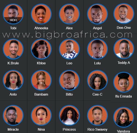 Big Brother Naija housemates 2018