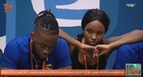 BamBam leaning on her partner Teddy after realising she had lost out on the task