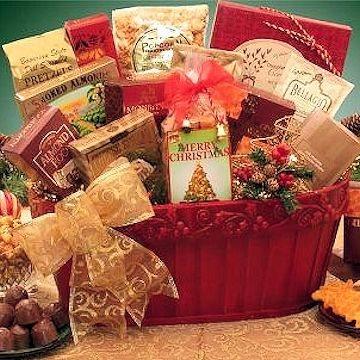 Holiday Fanfare Gift Basket